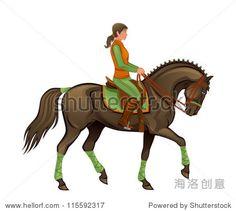 马的女孩-动物/野生生物,人物-海洛创意(HelloRF)-Shutterstock中国独家合作伙伴-正版素材在线交易平台-站酷旗下品牌