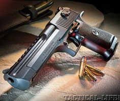 This Israeli-made Mark XIX Desert Eagle Mag is a classic example of ingenuity combined with brute power and force. Also the type of gun Fernando had when he lived in Rio. Desert Eagle, Weapons Guns, Guns And Ammo, Tactical Life, Tactical Gear, Tactical Survival, Fire Powers, Cool Guns, Big Guns