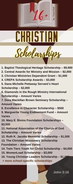 Here is a selection of Christian Scholarships that are listed on TUN. Some are school specific, others are not.