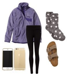 lazy day by hollere on Polyvore featuring polyvore, fashion, style, Patagonia, Charter Club, NIKE and Birkenstock