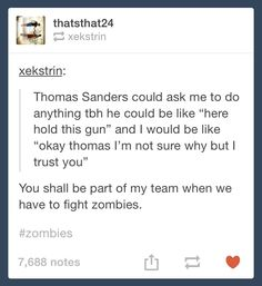 Oh my god Thomas Sanders is the best