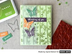 Bamboo Bold Prints and Butterflies by Jayne Nelson for Hero Arts