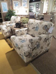 Watercolor print florals on chairs by Capris Furniture. 2013 Fall High Point Furniture Market Trends by: Asia Evans Artistry for Manteo Furniture #HPMKT