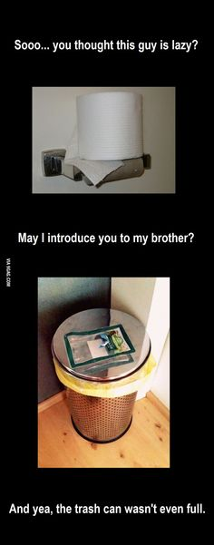 Laziness, taking it to whole a new level. - 9GAG