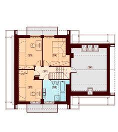 DOM.PL™ - Projekt domu DN NOELIA BIS 2M (garaż dwustanowiskowy) CE - DOM PC1-50 - gotowy koszt budowy Dream House Plans, Floor Plans, How To Plan, Country Houses, Dinner, House, Floor Plan Drawing, House Floor Plans