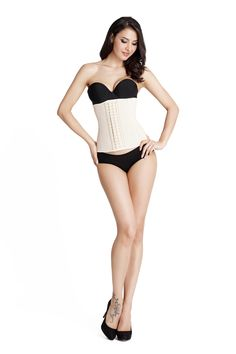 SHDIBA Women's Latex Waist Training Cincher Steel Boned Shapewear for Weight Loss XXS-6XL (XS Waist 22-24Inch/57-61CM, Beige). MATERIAL: 100% Latex,Lining: 100% Cotton.WON'T lose shape. BODY SHAPER AND WEIGHT LOSS:3 rows of Hook-and-eye closure to be adjustable according to your size to give you a slim figure,and also keep a tight fit around your waist to achieve long lasting waist cinching.This latex underbust deliver the most comfortable and pleasant experiences for your waist training...