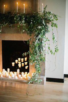 58 Creative Easter Fireplace Mantel Decor Ideas In Your Home Wedding Mantle, Wedding Fireplace, Home Wedding, Wedding Ceremony, Fireplace Mantel, Fireplace Ideas, Farm Wedding, Spring Wedding, Fireplaces