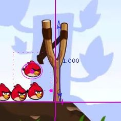 The physics of Angry Birds using the Tracker software