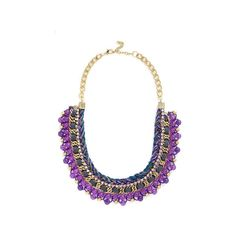 ModCloth Boho Bead Still My Heart Necklace ($26) ❤ liked on Polyvore featuring jewelry, necklaces, accessories, purple, heart chain necklace, heart necklace, purple statement necklace, purple heart necklace and multi color statement necklace