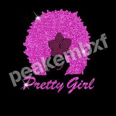 Pretty Girl Glitter Hot Fix Motif Rhinestone Clothing Hot Sale 30 pcs