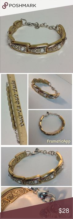 Brighton Gold/Sliver Bracelet With Rhinestones Brighton Gold/Sliver Bracelet With Rhinestones .Gently worn a few times  in great condition very light signs of wear. Brighton Jewelry Bracelets