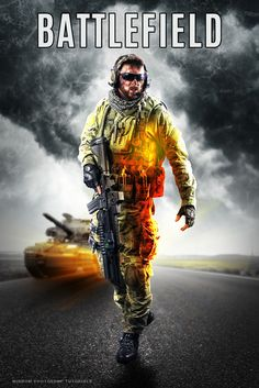 Today's tutorial, we'll create a Battlefield-inspired game poster in Photoshop. Combine stock photographs, create a glowing effect with a brush, adding a layer style, the lighting and shading techniques, creating a blur, filter effects and more.