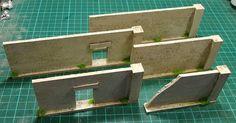 Walls, no special corner pieces required. Cork & wooden dowel - Matakishi's Tea House