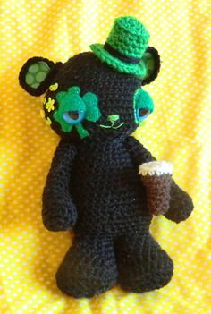 st patricks day crochet amigurumi
