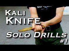 KNIFE DRILLS for Solo Training - Filipino Escrima Arnis Kali
