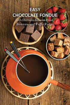 Delicious and simple-to-make chocolate fondue for a fun dessert.
