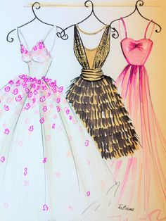 ORIGINAL Fashion Illustration-My Dresses by loveillustration