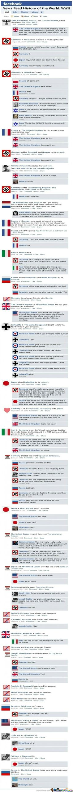 World War 2 on Facebook FUNNIEST history lesson ever!!