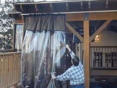 Enclose A Porch With Clear Vinyl Drop Curtains They Roll