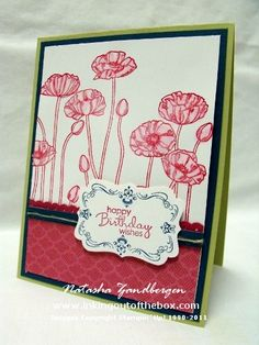 Watercolored Poppies by Natasha Zandbergen - Cards and Paper Crafts at Splitcoaststampers