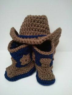 Cowboy Boots and Hat with denim Flair Cowboy Boots by Dremnstar, $30.50