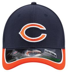 Chicago Bears New Era Logo Duel 39THIRTY Flex Hat - Navy/White ...