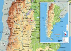 South America Physical Map Wall Maps Pinterest Maps South - Argentina physical map