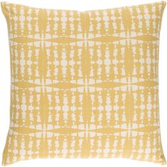 Yellow Ridgewood Throw Pillow/Decorative Accent Pillow -- use discount code pin30 for 30% off your entire purchase! | Pretty Pillow Party  spring decor