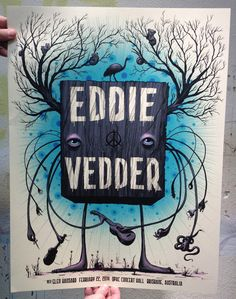 Jeff Soto's New Poster for Eddie Vedder  (Onsale Info)