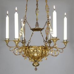 Antique French neo Romanesque Gilded Bronze Church Chandelier Sanctuary Lamp    eBay http Antique French Hanging Oil Lamp  Weighted  Chandelier  Milk Glass  . Antique French Lamps On Ebay. Home Design Ideas
