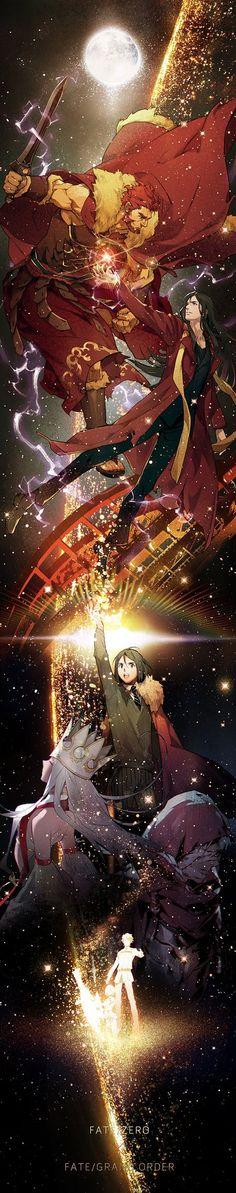 Fate/Zero || Iskandar || Waver Velvet || El-Meloi II || This image is knocking my heart