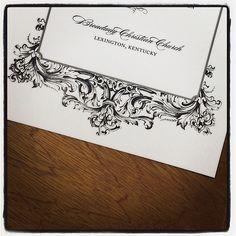 A digital print of our #Baroque wedding invitation design. It's so crisp!
