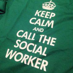 Keep calm and call the social worker / Reste calme et appelle le travailleur social --- Cabinet Social - Stéphanie LADEL