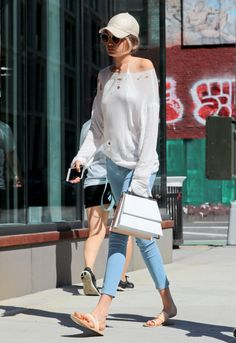 July 24: Gigi heading to lunch at The Smile in New York.
