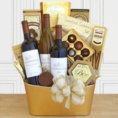 Executive Wine Gift Basket. See more gifts at www.pro-gift-baskets.com!