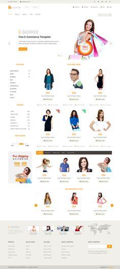 Ücretsiz bir responsive e-ticaret teması (HTML): E-Shopper — Egonomik