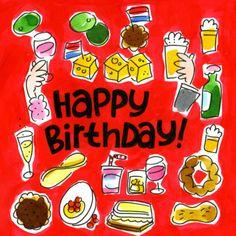 Hapjes en drankjes op een verjaardag- Greetz