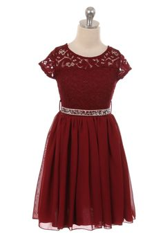 Burgundy Lovely Floral Lace and Chiffon Skirt Flower Girl Dress (Size in 7 Colors) SKU : Burgundy Bridesmaid Dresses, Burgundy Dress, Bridesmaid Flowers, Burgundy Wedding, Bridesmaids, Red Flower Girl, Gold Flower Girl Dresses, Girls Dresses, Chiffon Rock