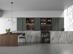 Sorpréndete con las últimas tendencias para las cocinas - Nuevo Estilo Modern Kitchen Cabinets, Glass Kitchen, Kitchen Interior, Kitchen Design, Kitchen Decor, Kitchen Views, Kitchen Collection, Minimalist Kitchen, Luxury Kitchens