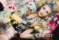 Juicy Couture Peace, Love & Juicy Couture Fragrance Ad Campaign and Collection