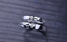 Journey 18k White Gold Diamond Wedding Ring Band Matching Set