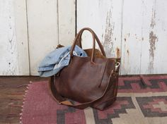 Ashcroft Leather Carryall - FORESTBOUND