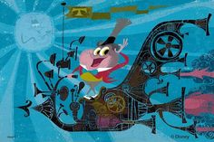 """""""Mr Toad's New Mania"""" by Chris Reccardi for Disney's Wonderground gallery"""