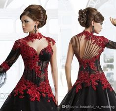 Stunning 2014 New Prom Dress Black Organza High Empire Wedding Dresses | Buy Wholesale On Line Direct from China