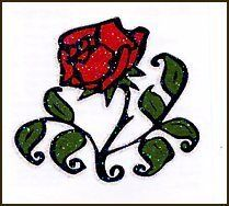 Tribal Rose Temporary Tattoo by TattooFun