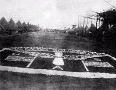 """3 Aero Squadron logo made of rocks and the """"main drag"""" along the enlisted housing tents Subic, Air Force Bases, Tents, Childhood Memories, Philippines, Maine, Rocks, Military, Clouds"""