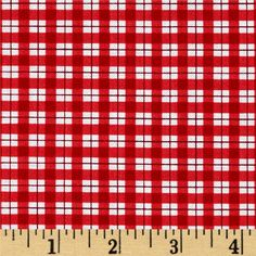 Timeless Treasures Jolly Mini Plaid Red from @fabricdotcom  Designed for…