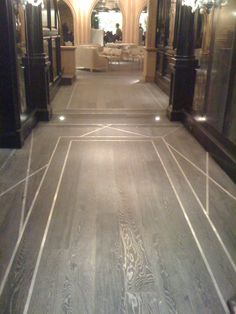 Wood Floor with Metal Inlays