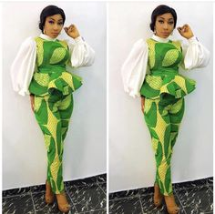 Ankara Top And Trouser Styles 2018 for African Ladies .Ankara Top And Trouser Styles 2018 for African Ladies African Fashion Designers, African Fashion Ankara, Latest African Fashion Dresses, African Dresses For Women, African Print Fashion, Africa Fashion, African Attire, African Wear, African Women