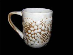 Ceramic Mug with Raised Grapes and Leaves by Coast to Coast China $9.99